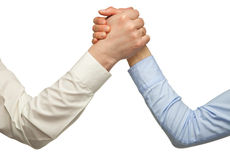 Arm wrestling of business people Stock Photography