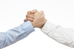 Arm wrestling of business people Royalty Free Stock Images