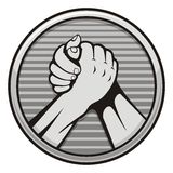 Arm wrestling icon Royalty Free Stock Photos