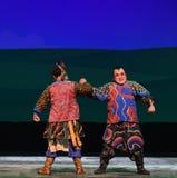 "arm wrestling--Peking opera ""Little Worriors of Yeuh's family"" Stock Image"
