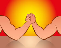 Arm Wrestling Red Royalty Free Stock Photos