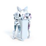 Arm Wrestling Robots Stock Photo