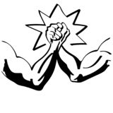 Arm wrestling vector illustration by crafteroks royalty free illustration