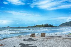 Armação d'armacao de plage, Florianopolis, Brésil photographie stock