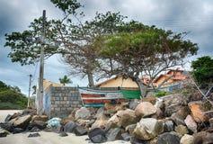 Armação van strandarmacao, Florianopolis, Brazilië stock fotografie