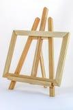 Armação de madeira no branco Imagens de Stock Royalty Free