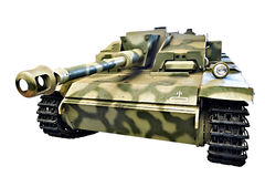Arma alemán Sd del asalto Kfz 142 StuG III StuG 40 Ausf F aislado Fotografía de archivo libre de regalías