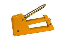 Arma amarillo de la grapa Fotografía de archivo