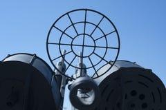 Arma anti de los aviones en el museo naval fotos de archivo libres de regalías
