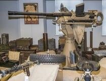 Arma antiaérea naval alemão em tandem de 20mm Fotografia de Stock