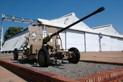 Arma antiaéreo. Foto de archivo