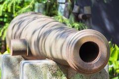 Arma antiguo japonés del cañón Fotografía de archivo libre de regalías