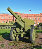 Arma antitanques de la artillería Fotos de archivo libres de regalías