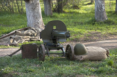 Arma automático viejo Foto de archivo libre de regalías