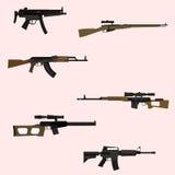 Arma automatica Fotografia Stock Libera da Diritti