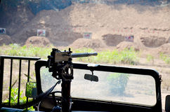 Arma automatica della squadra della mitragliatrice Immagine Stock