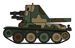 Arma automotor del vintage ilustración del vector