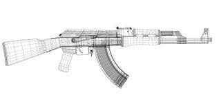 Arma automática Imagem de Stock Royalty Free