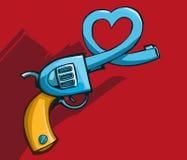 Arma con el barril en forma de corazón imagen de archivo libre de regalías