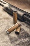 arma Concetto del fucile da caccia Fucile da caccia e manica neri del fucile da caccia Fotografia Stock