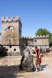 A arma da batalha da luta do castelo do divertimento da água caçoa o parque fotos de stock