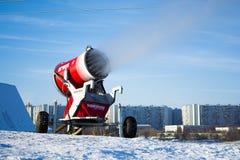 Arma da neve na ação Fotografia de Stock