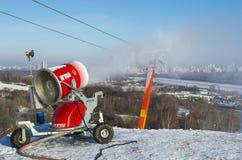Arma da neve na ação Foto de Stock Royalty Free