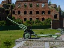 A arma da segunda guerra mundial em uma fortaleza Fotografia de Stock Royalty Free