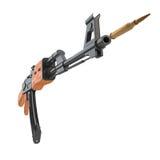 Arma de AK-47 que dispara em um cartucho Imagem de Stock