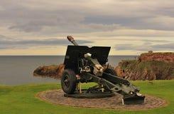 Arma de campo del obús, Dunbar Fotos de archivo
