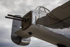 Arma de cola B-25 Imagen de archivo libre de regalías