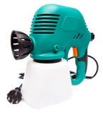 Arma de espray eléctrico. Ciérrese para arriba en un fondo blanco Fotos de archivo libres de regalías