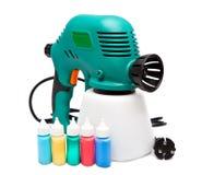 Arma de espray eléctrico para la coloración, para la pulverización del color foto de archivo