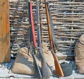 Arma de fogo da carga de três focinhos Fotografia de Stock Royalty Free