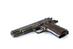 Arma de la arma de mano de la pistola automática aislada en el fondo blanco Imágenes de archivo libres de regalías
