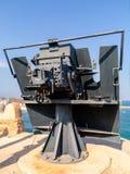 Arma de la artillería en el fuerte Mutrah en Muscat, la capital de Omán imagen de archivo