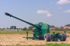 Arma de la artillería en un sitio concreto Imagen de archivo