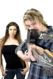 Arma de la guitarra Fotos de archivo libres de regalías