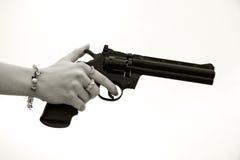 Arma de la mano Foto de archivo libre de regalías