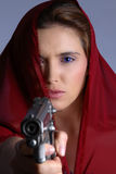 Arma de la violencia en el hogar Fotografía de archivo
