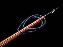 Arma de lanza de madera Imagen de archivo