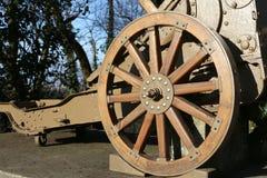 Arma de madeira da roda da Primeira Guerra Mundial no museu em Itália Imagens de Stock Royalty Free