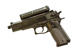 Arma de mano aislada en el fondo blanco Imagen de archivo libre de regalías