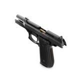 Arma de mano con la bala cargada Imágenes de archivo libres de regalías