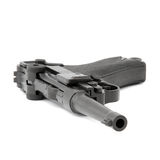 Arma de mano del negro de Parabellum Imagen de archivo libre de regalías