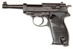 Arma de mano del negro de Walther Fotografía de archivo
