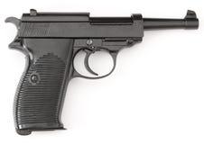 Arma de mano del negro de Walther Fotografía de archivo libre de regalías
