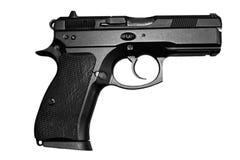 Arma de mano negra imagenes de archivo