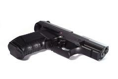 Arma de mano negra Imágenes de archivo libres de regalías