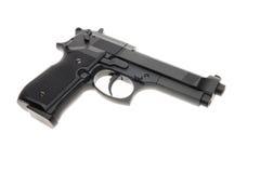 Arma de mano semi automática del negro Imágenes de archivo libres de regalías